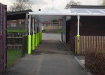 St Nicholas Catholic Primary School - Wall Mounted Canopy