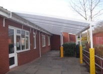 Heswall Primary School - Wall Mounted Canopy