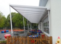 Gordonbrock Primary School - Wall Mounted Canopy