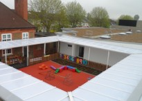 Gordonbrock Primary School - 2nd Wall Mounted Canopy