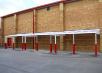Audenshaw School - Wall Mounted Canopy