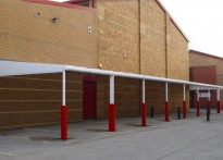 Audenshaw School - Wall Mounted Canopy - 2nd Installation