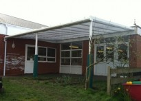 St Amands Catholic School - Wall Mounted Canopy