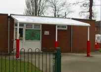 Gwenfro Community Primary School - Wall Mounted Canopy