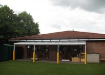 Great North Road Children's Centre - Wall Mounted Canopy