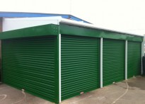 Kirk Sandall Infant School - Wall Mounted Canopy with Secure Roller Shutters