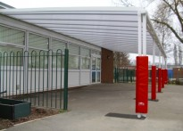 Gwenfro Community Primary School - Second Wall Mounted Canopy