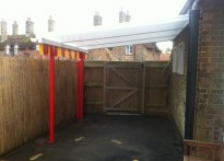 Somerleyton Pre School - Wall Mounted Canopy