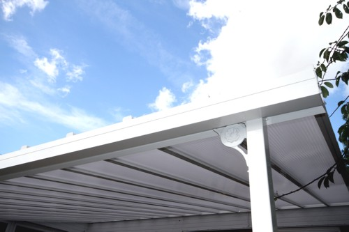 The Coniston Wall Mounted Canopy with 35mm Polycarbonate Roof Panels - Able Canopies