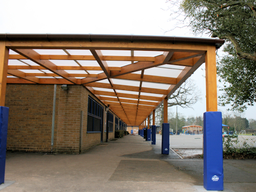 Tarnhow Mono Wall Mounted Timber Canopy Canopies Uk