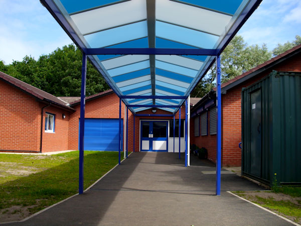 Coloured Polycarbonate For Canopies Ideal For Schools