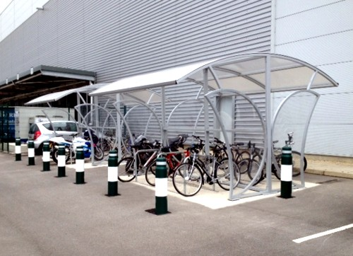 Metal Bicycle Shelters : Free standing witton cycle shelter bike