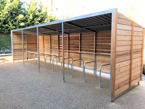 Grasmere Timber Clad Cycle Shelter Bike Shelter Timber