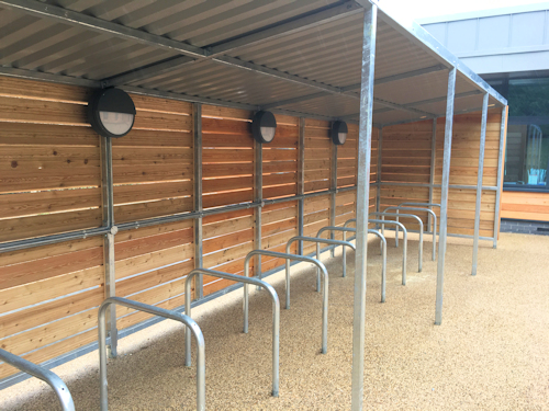 Grasmere Timber Clad Cycle Shelter Bike Shelter Timber Clad Shelter Canopies Uk Canopy Experts