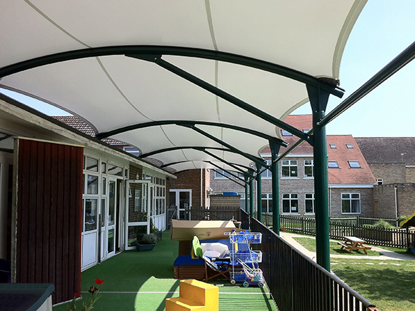 Kendal Cantilever Tensile Fabric Structure Able Canopies
