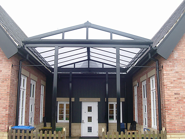 & Ullswater Apex Entrance Canopy | Canopies | UK Canopy Expert
