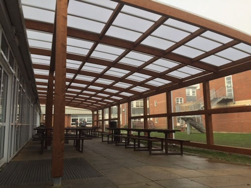 Tarnhow Curved Free Standing Timber Canopy Able Canopies