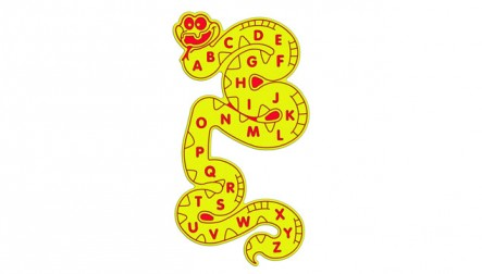 Alphabet Snake Wall Play Panel
