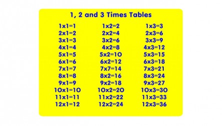Times Table Educational Play Panels