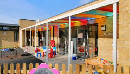 Coloured Polycarbonate Roof Sheets - Canopy Upgrade