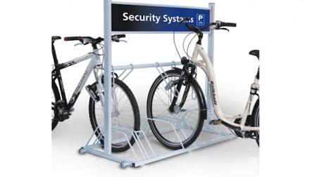 Advertising Bicycle Stand Security Station