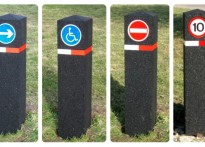 Car Park Bollards - With Reflective Signage