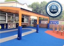 Tarnhow Curved Wall Mounted Timber Canopy