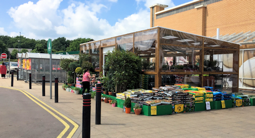 Retail Canopy at Morrisons Supermarket - Able Canopies Ltd.