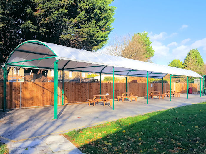 Outdoor Dining And Seating Areas For Schools Canopies