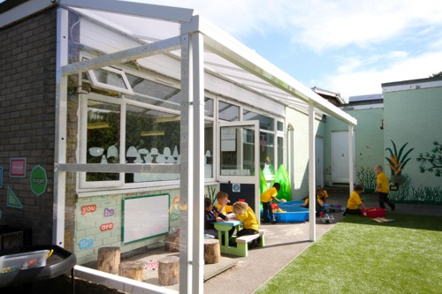 Able Canopies Ltd. - The Coniston Wall Mounted Canopy - Outdoor Play